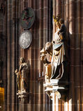 Religional statues in the church Royalty Free Stock Photos