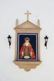 Religionbild på kyrkan, Aguilar de la Frontera arkivbild