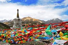 Religione della montagna e del tibetano di Zheduo Fotografie Stock