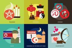 Religione e celebrazioni royalty illustrazione gratis