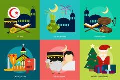 Religione e celebrazioni illustrazione di stock