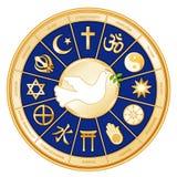 religiones del mundo de +EPS, paloma Foto de archivo