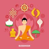 Religions Flat And Colored Composition Stock Photos