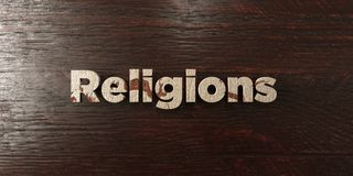 Religions - grungy wooden headline on Maple  - 3D rendered royalty free stock image Stock Photos