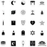 Religions icon set Stock Photos