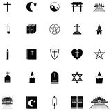 Religions icon set Stock Photo