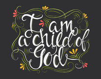 Religions lettering illustration Royalty Free Stock Photo