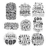 Religions marquant avec des lettres le vecteur moderne d'illustration de lettrage de bible illustration stock