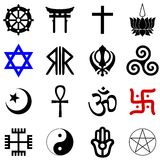 Religions symbols vector Royalty Free Stock Photography