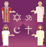 Religions. Vector image of set of religion icons Stock Images