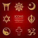 Religions of the world. icons set Stock Images