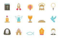 Religionsymbolsuppsättning vektor illustrationer