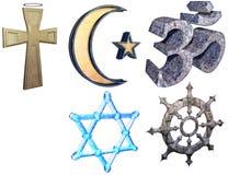 Religionuppsättning stock illustrationer
