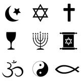 Religios symbols icons Royalty Free Stock Photos