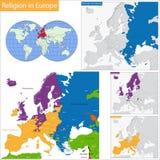 Religioso predominante in Europa illustrazione vettoriale