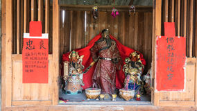 Religious altar with figures in Chengyang village Royalty Free Stock Photos