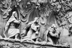 Religious Architectural Details in Barcelona. Stock Photos