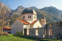Free Religious Architecture. Montenegro, Old Town Of Kotor. Orthodox Church Of St. Nicholas, View From Town Wall Stock Photography - 132466712