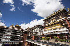 The religious architecture of the qinghai-tibet plateau Stock Image