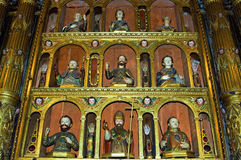 Religious art in interior of Jesuit church Funchal Stock Photography