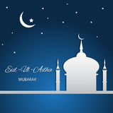 Religious background design for Eid eps 10. Religious background blue  design for Eid eps 10 Stock Image