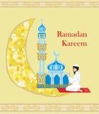 Religious background - muslim man praying Royalty Free Stock Photos