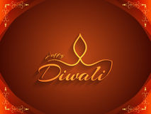 Religious background with text design of Happy Diwali. Vector illustration Stock Images