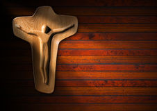 Religious Background - Wooden Crucifix Royalty Free Stock Image