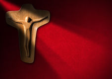 Religious Background - Wooden Crucifix Royalty Free Stock Photography