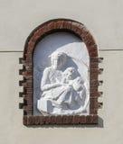 Religious bas relief Stock Image