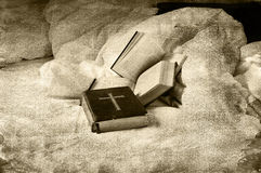 Religious books Stock Photos