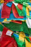 Religious boudhist flags for sale, Lhasa Stock Image
