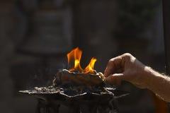 Religious buddhist ritual in Kathmandu Royalty Free Stock Image