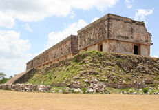 Religious building in uxmal, mexico Stock Images