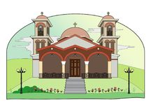 Religious building. Vector illustration of a religious building, file EPS 8 Royalty Free Illustration