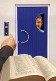 Religious caller phobic Stock Image