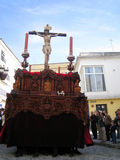 RELIGIOUS CAR IN JEREZ, SPAIN Stock Photos