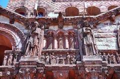 Religious carving, Trinity Church Royalty Free Stock Photo