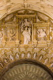 Religious Carvings in Mezquita Cathedral Stock Photo
