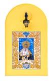 Religious ceramic tile Stock Images