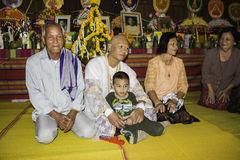 Religious ceremonies and ordination of men to a monk of Thailand Isaan Royalty Free Stock Images