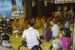 Religious ceremonies and ordination of men to a monk of Thailand Isaan Royalty Free Stock Photos
