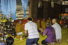 Religious ceremonies and ordination of men to a monk of Thailand Isaan Stock Photos