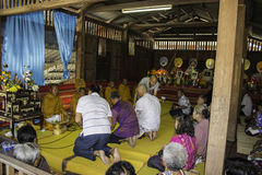 Religious ceremonies and ordination of men to a monk of Thailand Isaan Stock Photo