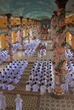 Religious ceremony in Cao Dai Temple Royalty Free Stock Images