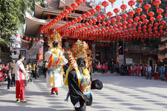 Religious ceremony of xiacheng chenghuang temple Stock Photos