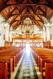 Religious chapel or funeral home for funeral service. Shot of religious chapel or funeral home for funeral service royalty free stock image