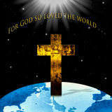Religious Christian Concept: For God so Love the World Royalty Free Stock Image