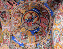 Religious christian icon painting on the church roof Royalty Free Stock Photography