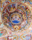 Religious christian icon painting on the church roof Stock Images